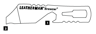 Схема инструментов Leatheman Brewzer