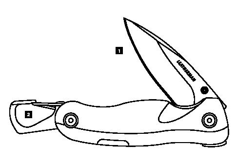 Схема инструментов Leatherman Crater С33L