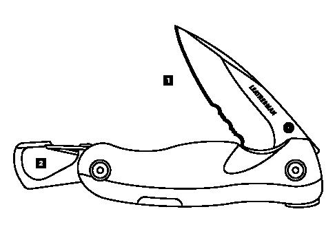 Схема инструментов Leatheman Crater C33LX