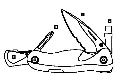 Схема инструментов Leatheman Crater C33TX